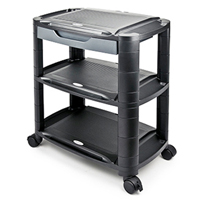 Machine Cart (Monitor Riser) with Storage Shelves from AIData