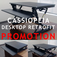 CASSIOPEIA Desktop Sit Stand Retrofit from ErgoVerse
