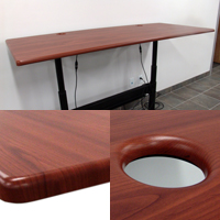 DIADEM Waterfall Table Tops from ErgoVerse