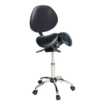 Kanewell Twin Adjustable Saddle Chair With Backrest By