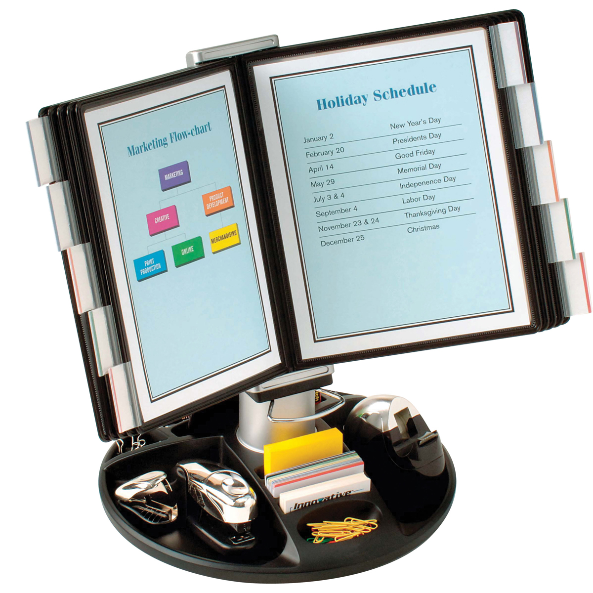 Executive Rotary Base Flip And Find Display Carousel By