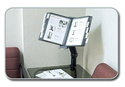 Flip & Find Flex Arm Desk Clamp Reference Organizer Offers Extended Reach