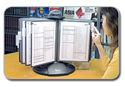 Aidata Flip & Find Rotary Display Reference Organizer Offers Quick Access to Information
