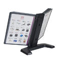 Flip and Find Weighted Desktop Reference Organizer - Rear