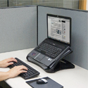 Converts to Ergonomic Desk Laptop Stand when Padded Base is Removed