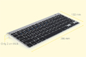 M-board 870 Keyboard - Dimensions