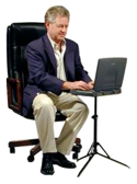 Basic InsTand Laptop Stand - in sitting position