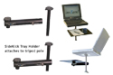 InsTand Sit/Stand Laptop Stand - with Side Tray Accessory