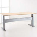 Conset 501-11 Series Heavy Duty Electric Height Adjustable Desk Base Show with Top