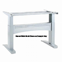 Conset 501-11 Series Heavy Duty Electric Height Adjustable Desk Base