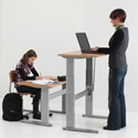Conset 501-27 Series Height Adjustable Base for Sitting or Standing
