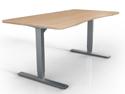 Ergomaker Electric Height Adjustable 2-Leg Table Base - Silver