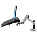 Ergotron LX Notebook Tray Mounted on Articulating Monitor Arm