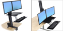 Easily adjusts for Sitting or Standing