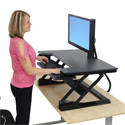 Workfit-T Sit-Stand Desktop Workstation - In Use