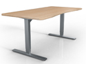 ANDROMEDA Electric Workstation Base 2-Leg - Silver