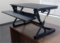 CASSIOPEIA Desktop Sit-Stand Retrofit - In Use