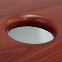 DIADEM Waterfall Table Tops - Grommet Waterfall Edge Details