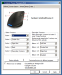 Evoluent VerticalMouse C Mouse Manager Screen Capture