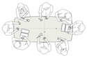 Confluence Conference Table - 6 Person Dimensions