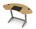 Locus Sphere Desk in Black Walnut Veneer
