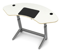 Locus Sphere Desk in White Oak Veneer