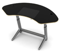Locus Sphere Desk in Glacier White Melamine