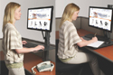 Health Postures Taskmate EZ - For Sit or Stand Usage