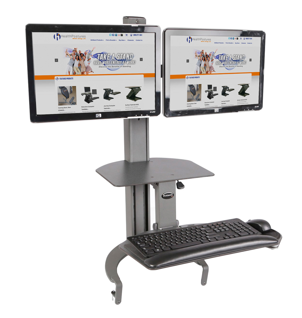Health Postures Taskmate Go Dual Monitor