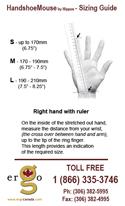 Handshoe Mouse - sizing chart
