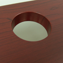 Omega Denali ThermoDesk Table Top - Fully Wrapped and Sealed Grommet Holes