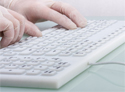 Indukey Smart Clinical Compact Financial Keyboard - Ideal for Lab or Clinical Environments