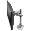 Pivot and Tilt LCD Mount with Pole - top side view