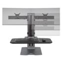 Winston-E Compact Workstation Dual - Monitor Adjustment Range