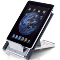 Goldtouch Go! Travel Laptop and Tablet Stand with tablet
