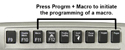 Advantage Contoured Keyboard - Macro programming options