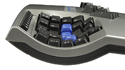 Advantage Contoured Keyboard - Concave keywells
