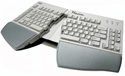 Maxim Adjustable Keyboard - splayed and tented