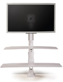 Altissimo Single Sit-Stand Workstation – Front View
