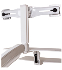 Altissimo Dual Sit-Stand Workstation – Rear View