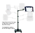 LEVO G2 Book Holder Floor Stand - Convenient Clamps for Height Adjustment