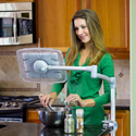 Levo G2 Deluxe Table Clamp Stand (Natural Aluminum) - Use Almost Anywhere
