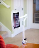 Levo G2 Deluxe Table Clamp Stand (Natural Aluminum) - Compact Stowability