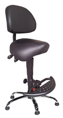 EQUSIT Sit-Stand Saddle Seat with Folding Footrest and Base - Model 83016