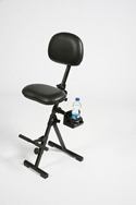 GIGCHR Foldable Sit-Stand Chair with Optional Beverage Holder