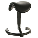 PYRCH Sit-Stand Saddle Stool - Leatherette over Polyurethane Foam