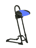 Mey Chair Systems Steybil Sit-Stand Stool - Leatherette Over Polyurethane Seat (11145)