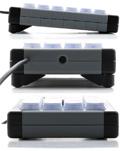 X-Keys XK-24 Programmable Keypad - Wedge Feet Enable Angled Orientation