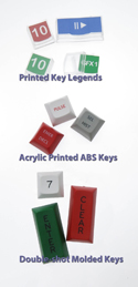 Finished key cap options to go on your X-keys.