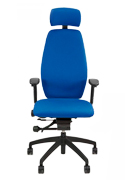 Positiv Plus High Back Executive Chair with Headrest - Front View